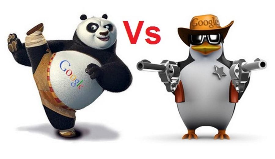 Различия между «Штрафом за неестественные ссылки» и алгоритмами «Панда» и «Пингвин».