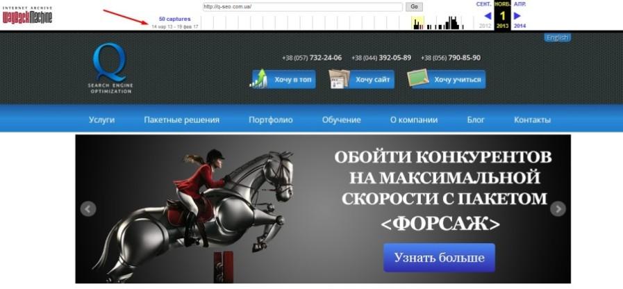 наш сайт в 2013 году