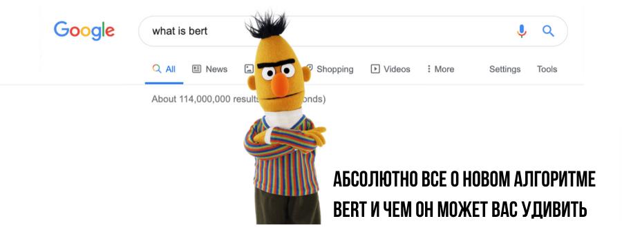 Абсолютно все о новом алгоритме BERT и чем он может вас удивить